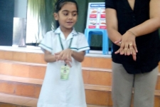 Global hand washing, welcoming link teacher & grand parents day