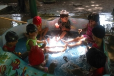 March fun with water pre primary department